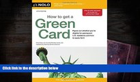 BEST PDF  How to Get a Green Card Ilona Bray JD [DOWNLOAD] ONLINE