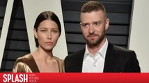 Justin Timberlake scherzt mit Jessica Biel bei den Oscars