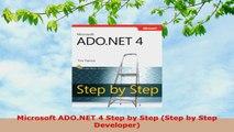 READ ONLINE  Microsoft ADONET 4 Step by Step Step by Step Developer