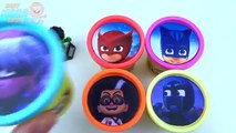Learn Colors with PJ Masks Crayons Play Doh Ice Cream Peppa Pig Elephant Molds F