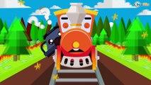 Trenes infantiles - Carros de Carreras - Dibujos animados educativos - Caricaturas de Trenes