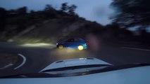 Course de voiture amateur entre deux subaru impreza STI