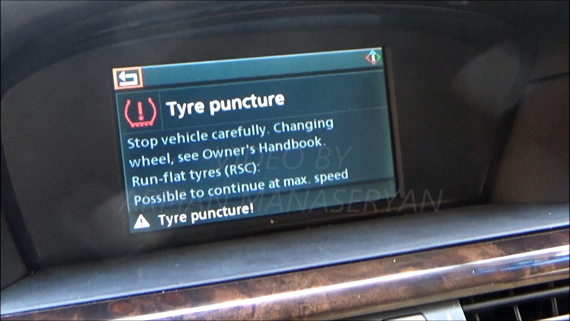 BMW E60  Tire pressure adaptation. адаптация давления в шинах.