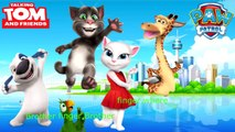 Talking Tom and Friends Transforms Into Paw Patrol Finger Family   Talking Tom and Friends
