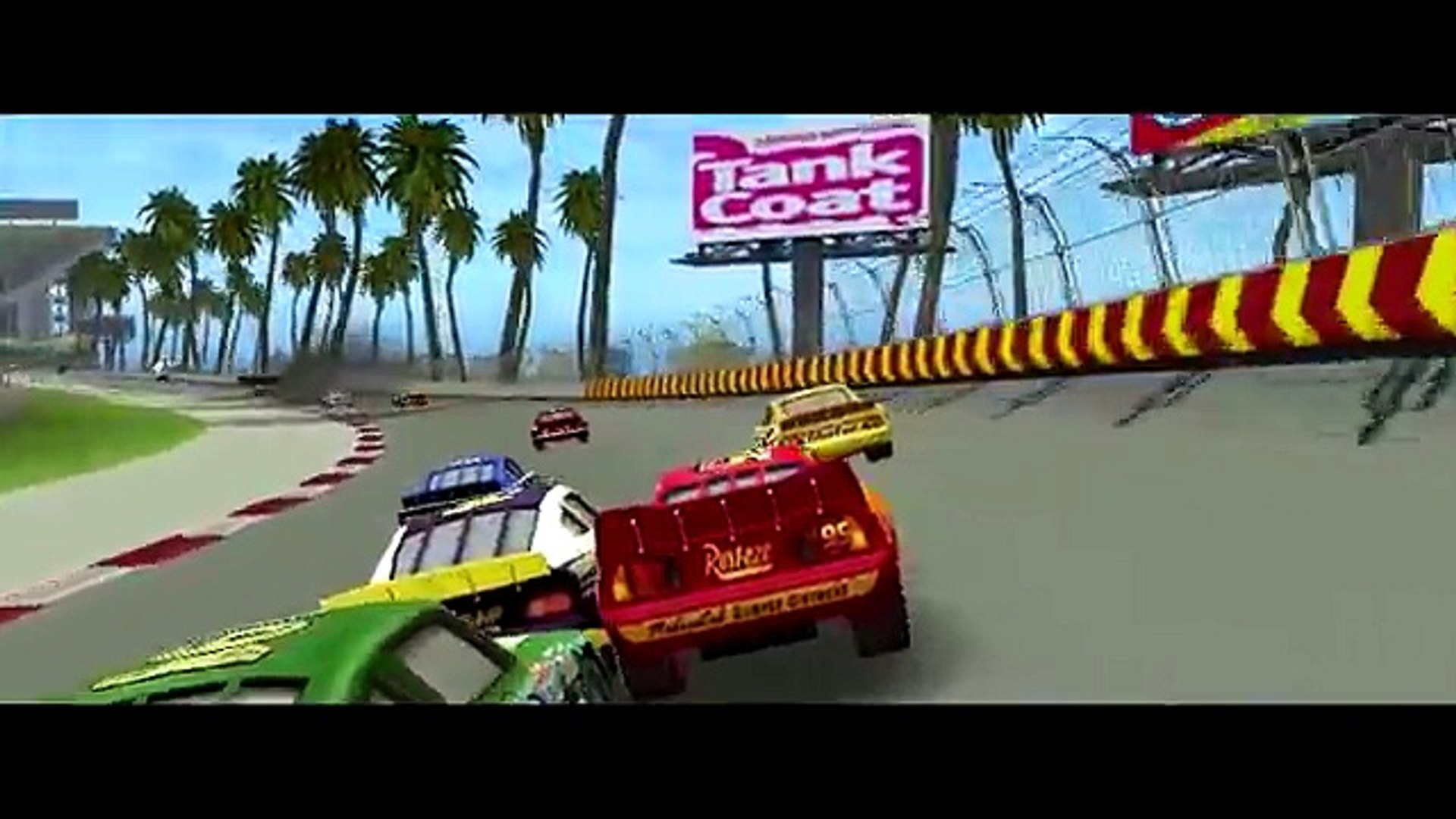Chick Hicks & Lightning McQueen Cars Awesome Race Gameplay Disney Pixar Cars HD 1080P