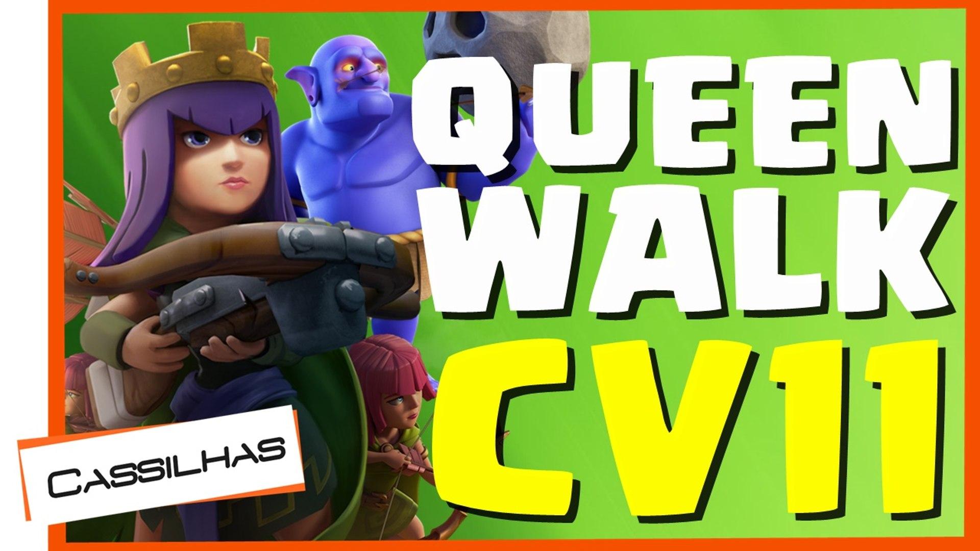 Clash Of Clans 91 Pt Incrivel De Cv11 Com Queenwalk E