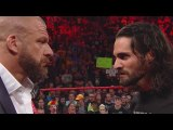 WWE RAW 28 February 2017 Seth Rollins Triple H Face To Face WWE RAW 28 February 2017