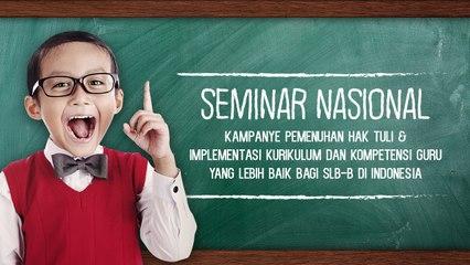 Seminar Nasional 'Pemenuhan Hak Tuli'