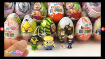 20 Surprise Eggs Kinder Surprise Depicable 2 Minions Tom and Jerry Angry Birds Masha i Medved