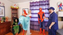 Elsa vs Spiderman Baby Sick Injection! w/ Frozen Anna Maleficent FUN IRL Superhero in Real
