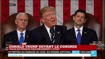 """""""Mon travail consiste à représenter les Etats-Unis d'Amérique"""", affirme Trump devant le Congrès"""