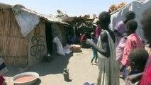 Fatigués et affamés, des Sud-Soudanais se réfugient au Soudan