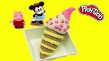 Jugar Doh Ice Cream y Popsicle Juguetes para Niños play doh strawberry vani ice cream cone