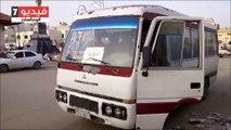 حافلات تنقل المعلمين والمعلمات من مدينة العريش لمدارس رفح والشيخ زويد
