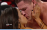 John Cena and AJ Lee kiss after Cenas victory over Dolph Ziggler Raw