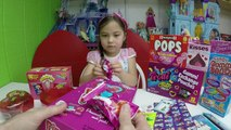 Giant Gummy Worms WarHeads Extreme Sour Candy Haul Goody Bags, Ring Pops & Disney Frozen C