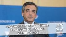 Salon de l'agriculture: François Fillon ne viendra pas