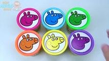 Пеппа чашки свиньи играть doh пластилин учим цвета на английском языке, играя в игрушки Пеппа семьи свиньи