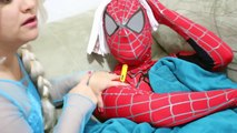SPIDERMAN VS HULK GROSS TONGUE Frozen Elsa Joker Pink Spidergirl Superheroes in Real L