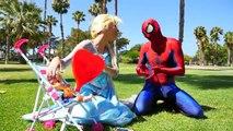 Spiderman Spiderman et Elsa Frozen cœur froid! Baby Anne, Hulk, la crème glacée! jeu télévisé