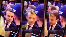 Emmanuel Macron a (encore) reçu un oeuf au Salon de l'agriculture