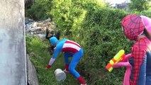 Spiderman vs Frozen Elsa Face Style Joker Fun Superheroes movie in real life pinks spidey