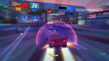 Crazy Race with DISNEY CARS characters / MCQUEEN / Video Games Speed Crash and Accident !
