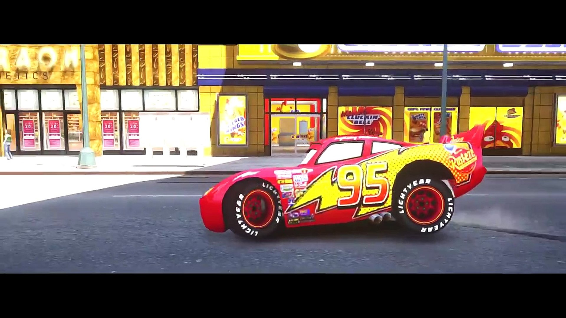 CARS SpiderMan drive a BLACK MCQUEEN CARS! Spider Nursery Rhymes Songs for Kids Compilation1