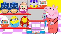 Peppa Pig Shopping For kids Surprise Eggs Pj Masks Paw Patrol Ryder Minions Monster Inc #Animation