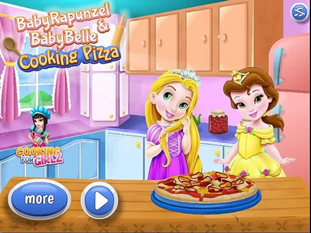 Cooking Games, Baby Rapunzel And Belle Cooking Pizza, Baby Disney Princess Cooking Pizza | Godialy.com