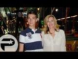Valérie Trierweiler et son fils Léonard inaugurent la fête des tuileries