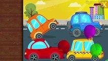 Camiones y Coches de niños : Niños de Rompecabezas de camiones de Bomberos, coche de policía, una ambulancia de la Calle Cinco