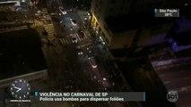 Em São Paulo, Carnaval de rua termina com bombas para dispersar foliões