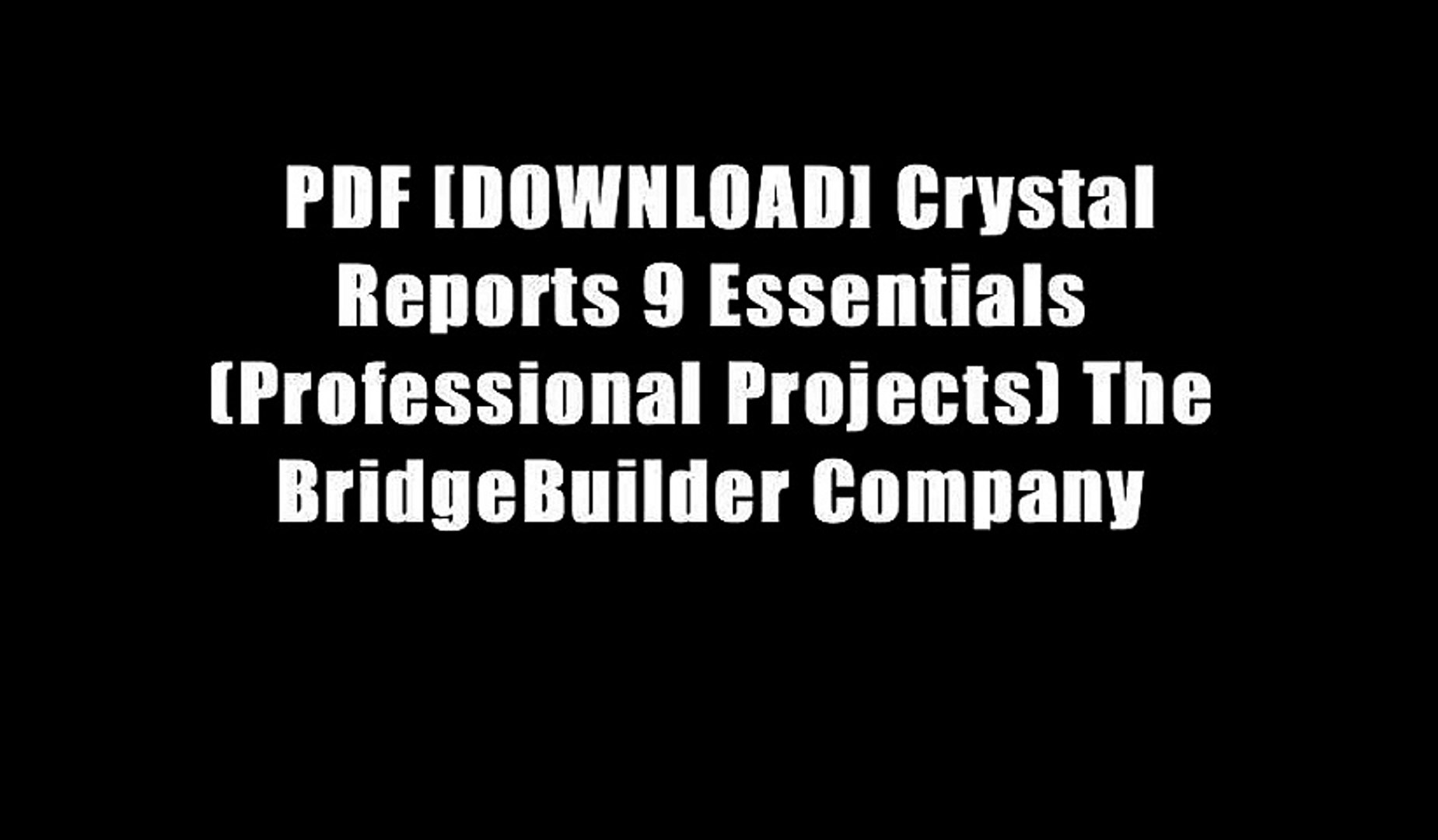 Crystal reports 9 download free. full version