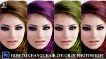 Adobe Photoshop Tutorial: How to Change Hair Color in Photoshop