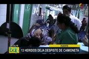 Huanta: más de 10 heridos deja despiste de camioneta