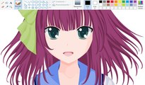 How I Draw using Mouse on Paint - Yuri Nakamura | Angel Beats