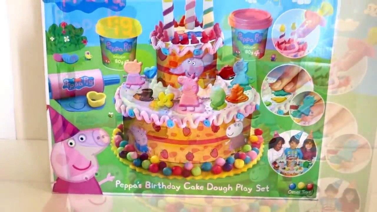 Sensational Play Doh Peppa Pig Ice Cream Birthday Cake Video Dailymotion Personalised Birthday Cards Veneteletsinfo