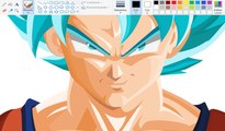 Drawing using Mouse Paint -  Drawing using Mouse Paint - Super Saiyan Blue | Dragon Ball