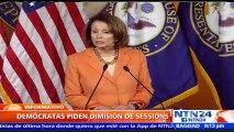 Líder demócrata del Senado de EE. UU. dice que fiscal general debería renunciar por supuestos nexos con Rusia