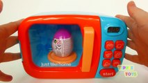 Just Like Home Microwave Toy for Pretend Kitchen Cooking Surprise Eggs