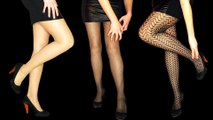 Experimental ASMR Scratching No Talking (Pantyhose, Fishnets, Nylons, Lace, Heels Tapping)