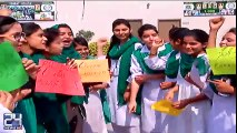 Lahore college girls excitements for PSL Final in Lahore