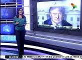 Francia: candidato Emmanuel Macron critica políticas de Trump