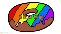 Learn Colors with Rainbow Cupcake Coloring Pages (19) Rainbow Donut Cake Popsicle Ice Cream