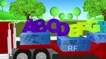 ABC песни для детей, песни для грузовиков | алфавит 3D | обучения ABC детские стишки песни