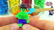 Play Doh MARVEL Avengers  Lego Marvel Super Heroes   Captain America Spiderman Iron Man Gr
