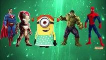 Superheros Finger Family Nursery Rhymes For Kids   Minions Finger Family Children Nursery Rhymes