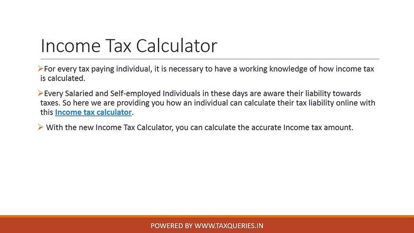 Income Tax Calculator video