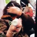GIRL DYES HER HAIR ON THR SUBWAY - YouTube
